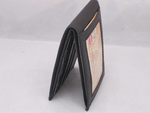 Mens slim wallet with id window