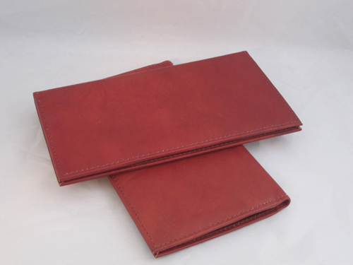 CHECKBOOK COVERS PLAIN SET OF 2 ALL BROWN LEATHER GIFT IDEA NEW FREE SHIPPING