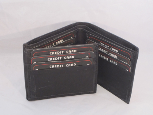 Black Friday Special Bifold Genuine Leather Wallet With Flip Out Id Ebay