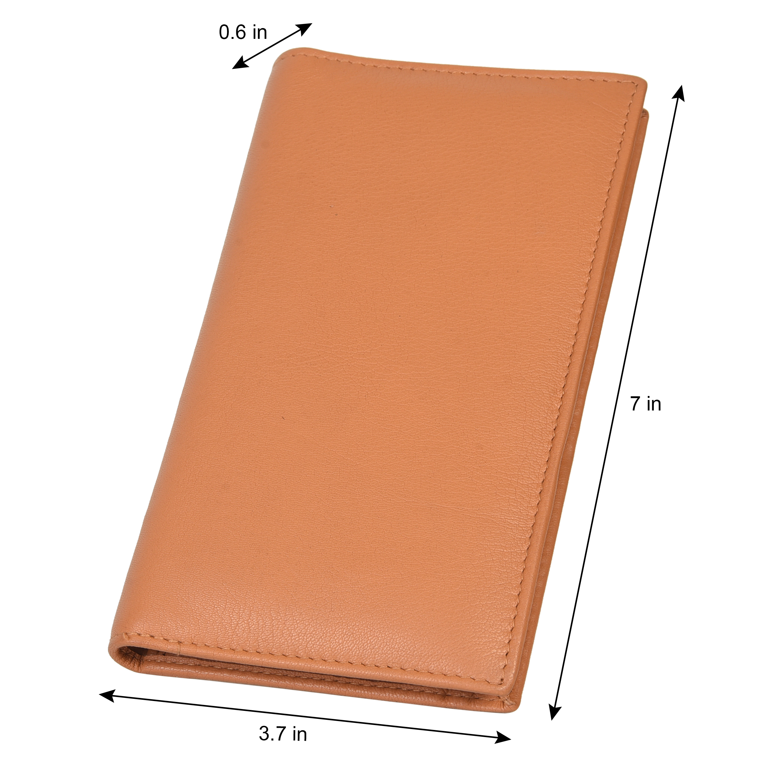 CHECKBOOK MONEY CREDIT CARD HOLDER TAN NEW GENUINE LEATHER